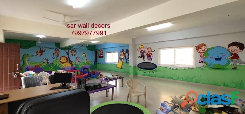 3D cartoon Animation wall painting in Hyderabad 1