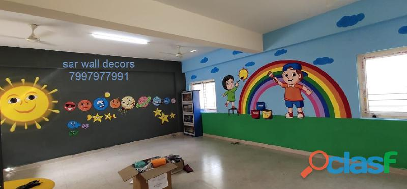3D cartoon Animation wall painting in Hyderabad 4