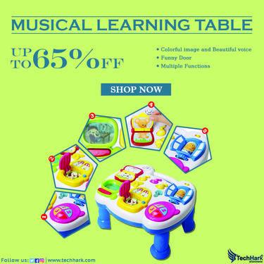 Techhark Musical Learning Table for kids Baby Toys 0