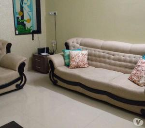 Used fabric sofa set (3seater+single): very good condition