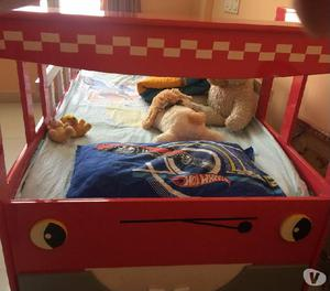 Kids bed - fire engine red color truck bed
