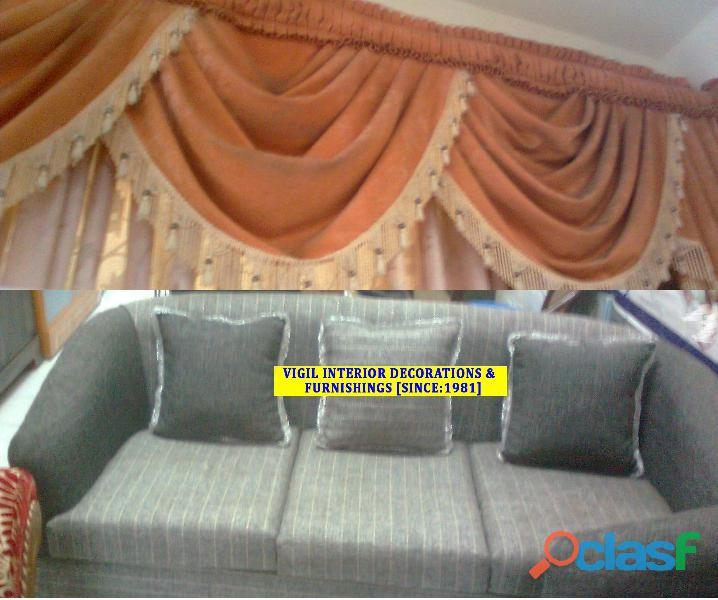 Curtain stitching, sofa/settee/diwan/chair upholstery, mosquito net, cushion cover in trivandrum