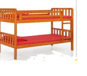 Wooden Bunk bed with mattrress
