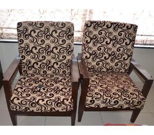 5 seater teak wood sofa set