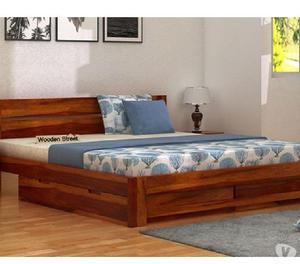 Shop wooden bed with storage online @ wooden street
