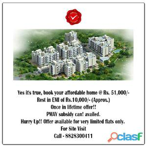 Book your dream home @rs. 51000/  only/