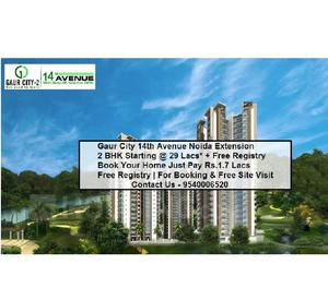 Gaur city 14th avenue – buy 23 bhk starting at 29 lacs