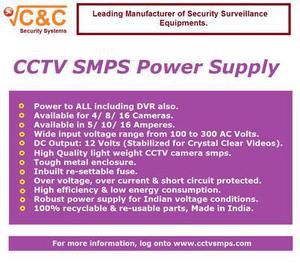 C&c best cctv camera smps power supply with 4 years warranty