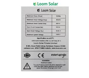 Loom solar panel 340 watt - 24 volt mono crystalline