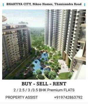 Bhartiya city nikoo homes 3 bhk brand new unfurnished flat