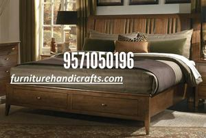 Sheesham solid wooden furniture storage double cot