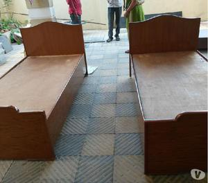 King size bed with storage in teak wood finish @10% discount