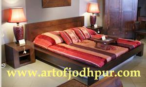 Jodhpur handicrafts platform double beds