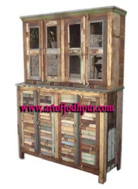 Jodhpur reclaimed wood cabinets