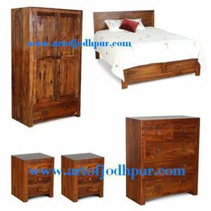 Sheesham wood 5 pc.bedroom sets