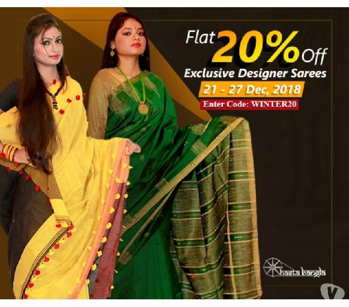 20% off on all exclusive designer sarees | enter code winter