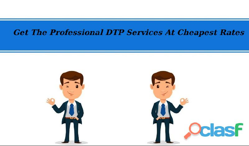 Get the professional dtp services at cheapest rates