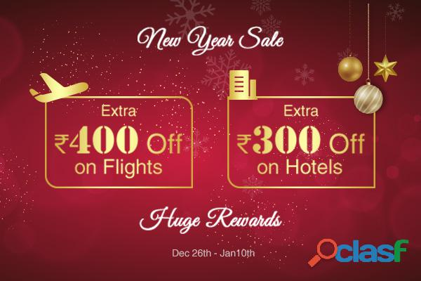 It is raining discounts during happy easy go new year sale