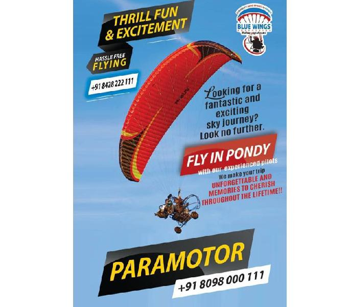 Paramotoring activity started at pondicherry