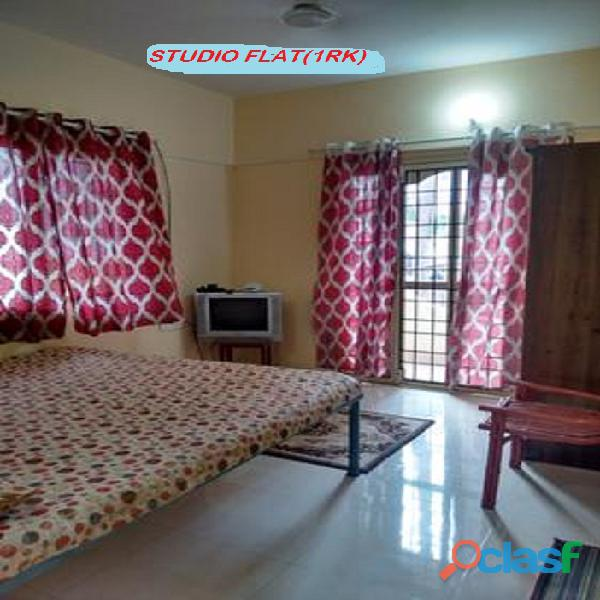 Furnished 1 room kitchen no brokerage 10000 p