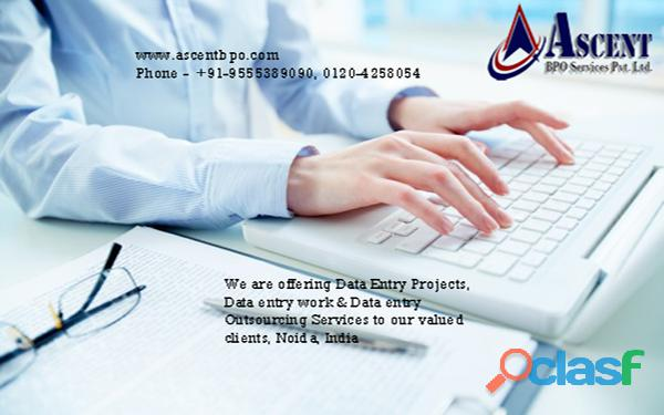 Data entry projects outsourcing services   ascentbpo