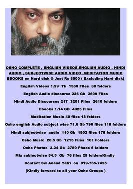 Osho audio books in tamil