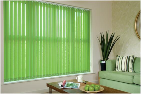 Different type of blinds and curtains