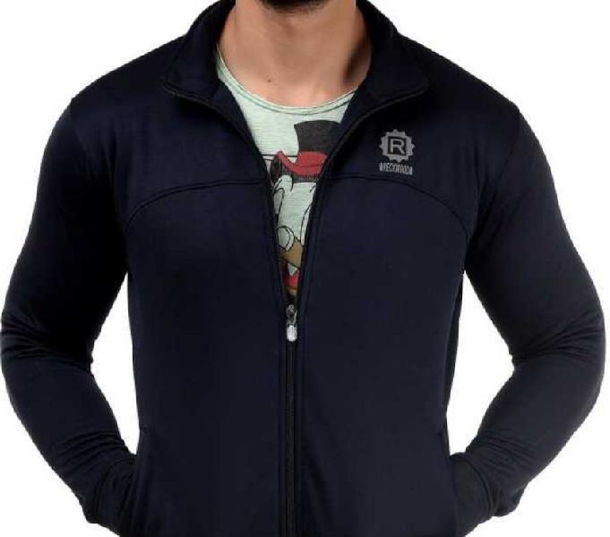 Stylish reckwood full sleeve solid men sweatshirt