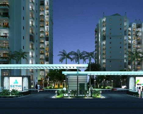 3bhk 1440 sq ft apartment sethi max royal, sector 76 noida