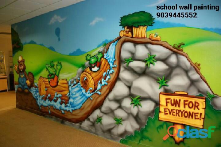 Nursery school wall painting artist in udaipur,school interior decoration udaipur