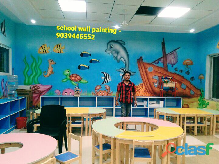Play school wall painting service in alwar,school painting works in alwar