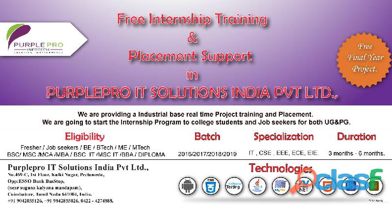Internship with free project