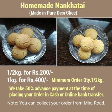 Homemade Pure Desi Ghee Sweet Nankhatai