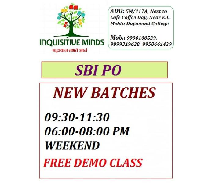 Sbi po batch in faridabad @ inquisitive minds