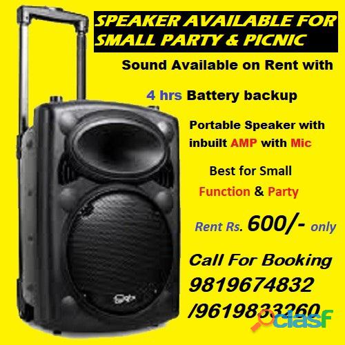 Portable Speaker available on Rent