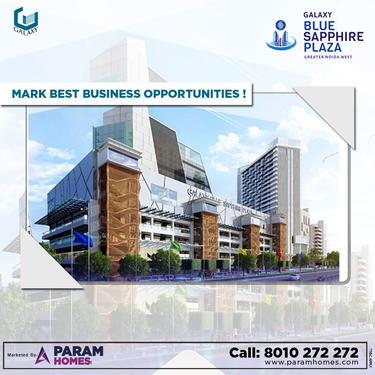 Buy commercial spaces at galaxy blue sapphire plaza