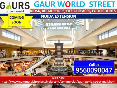 Gaur world street 9560090047 upcoming commercial project