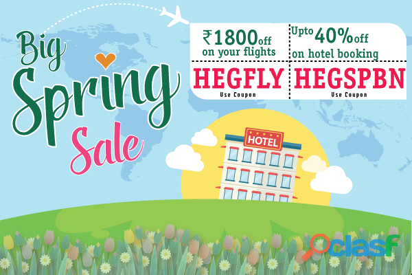 Few Days left to save on Flights & Hotels with Spring Sale