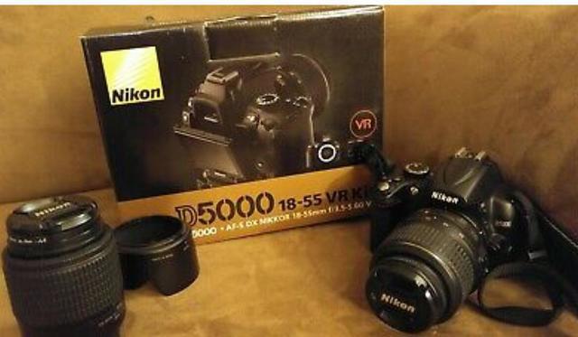 My nikon d d5000 123mp digital slr camera