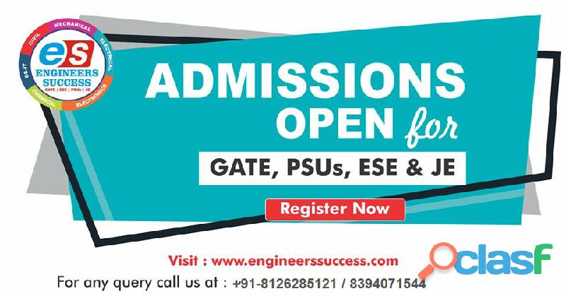 Engineers success is one of the best gate coaching institutes in india