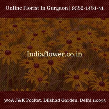 Fresh flowers delivery in gurgaon 9582148141