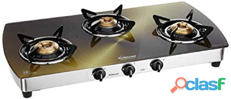 3 burner gas stove with auto ignition