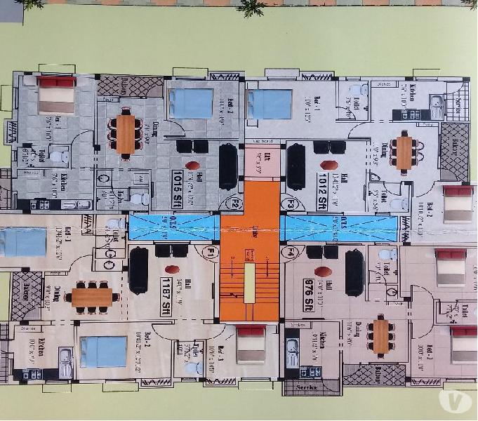 2 & 3 bhk flats at ambattur, near by naidu hall
