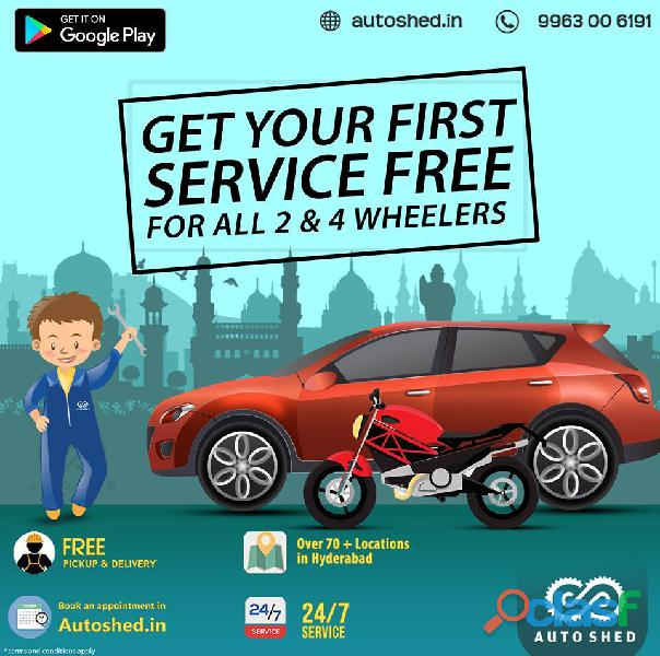 Car and bike repair service center near me in jubilee hills, hyderabad – autoshed
