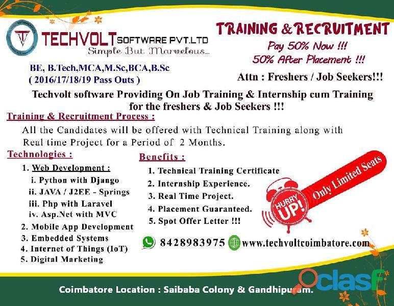 Mba internship in coimbatore ||techvolt software internship||saibaba colony,