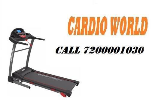 Motorised treadmill cardio world cw junior