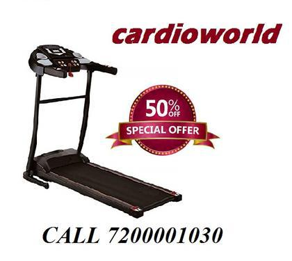 Motorized treadmill cardio world cw turbo
