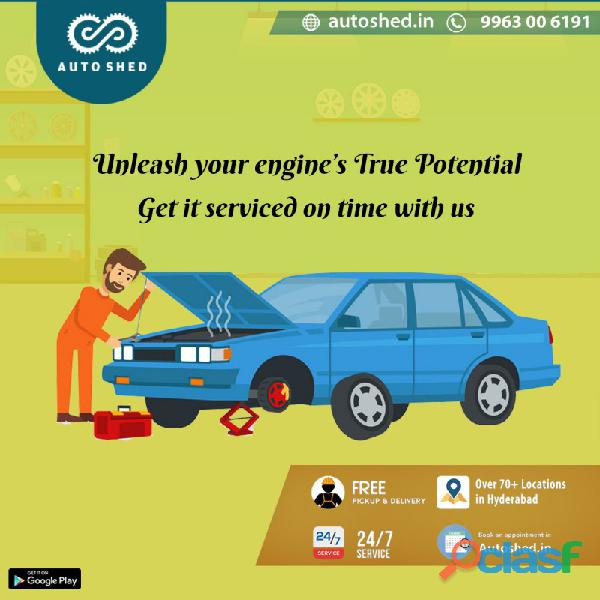Car and bike repair service center in jubilee hills, banjara hills, hyderabad   autoshed