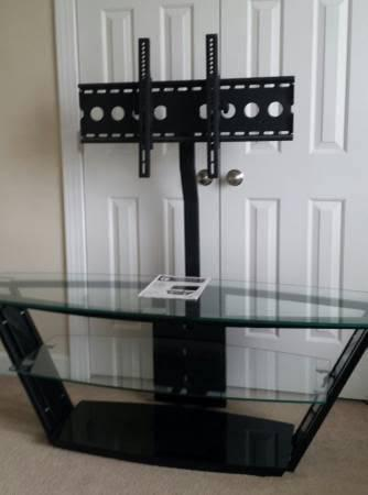 Tampered glass top tv stand from costco - furniture - by