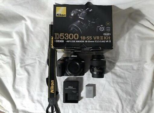 Nikon d d5300 242mp digital slr camera with nikkor 1855mm